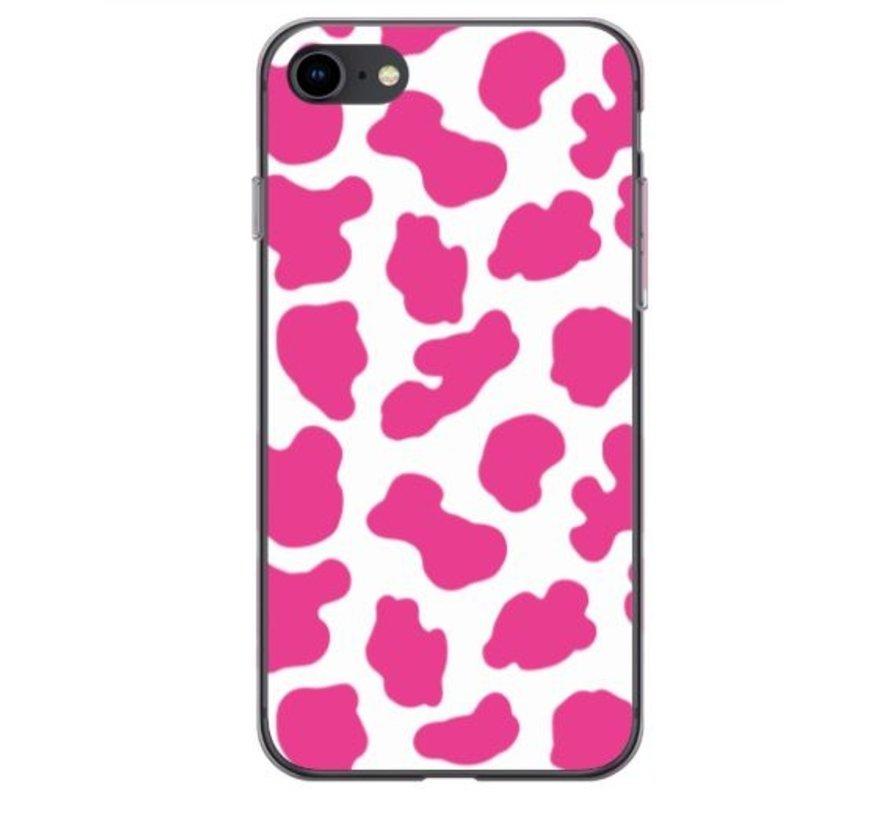 ShieldCase Holy Cow iPhone 8  / iPhone 7 / SE hoesje (roze/wit)
