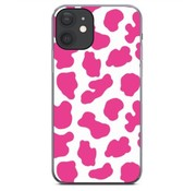 ShieldCase® Holy Cow iPhone 12 - 6.1 inch hoesje (roze/wit)