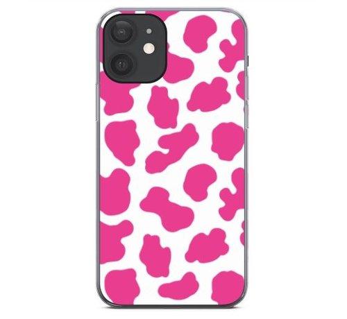 ShieldCase® ShieldCase Holy Cow iPhone 12 - 6.1 inch hoesje (roze/wit)