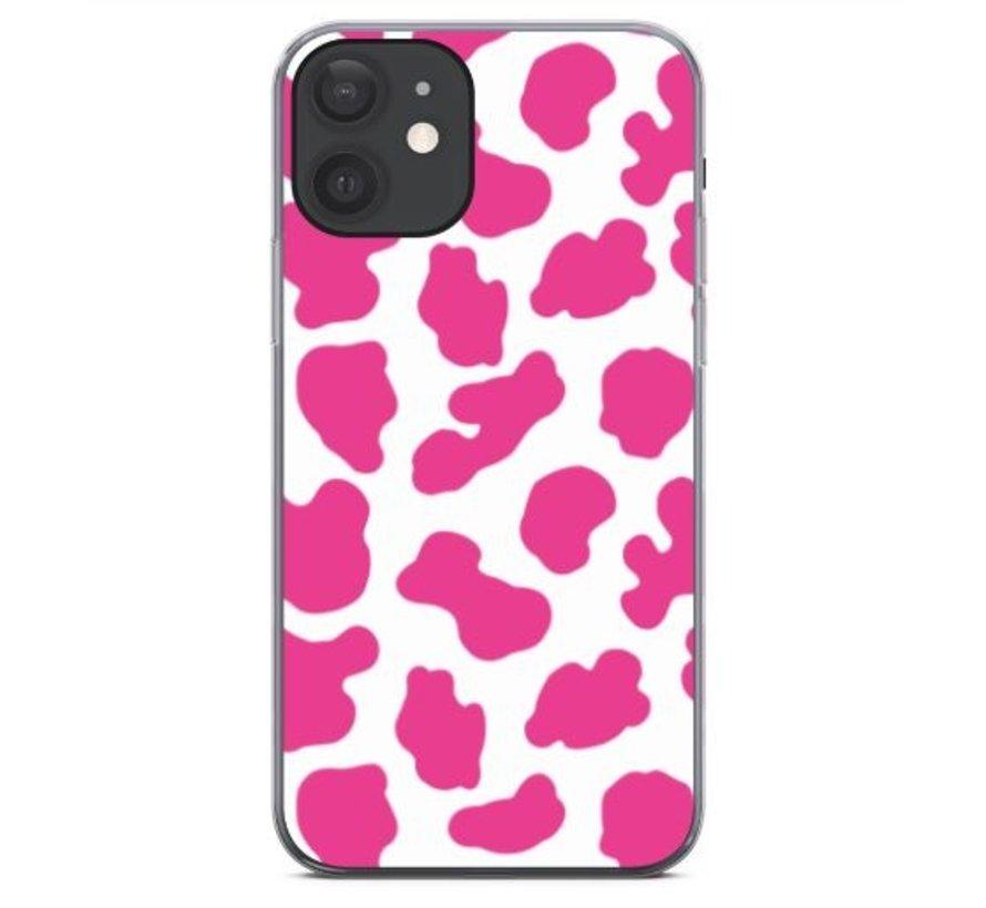 ShieldCase Holy Cow iPhone 12 - 6.1 inch hoesje (roze/wit)