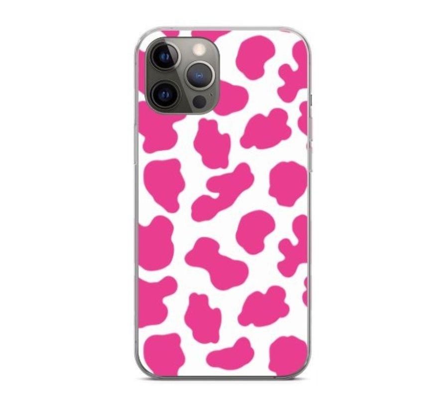 ShieldCase Holy Cow iPhone 12 Pro - 6.1 inch hoesje (roze/wit)