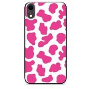 ShieldCase® Holy Cow iPhone Xr hoesje (roze/wit)