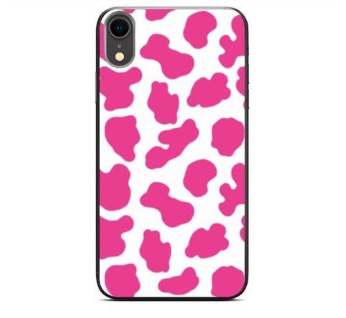 ShieldCase® ShieldCase Holy Cow iPhone Xr hoesje (roze/wit)