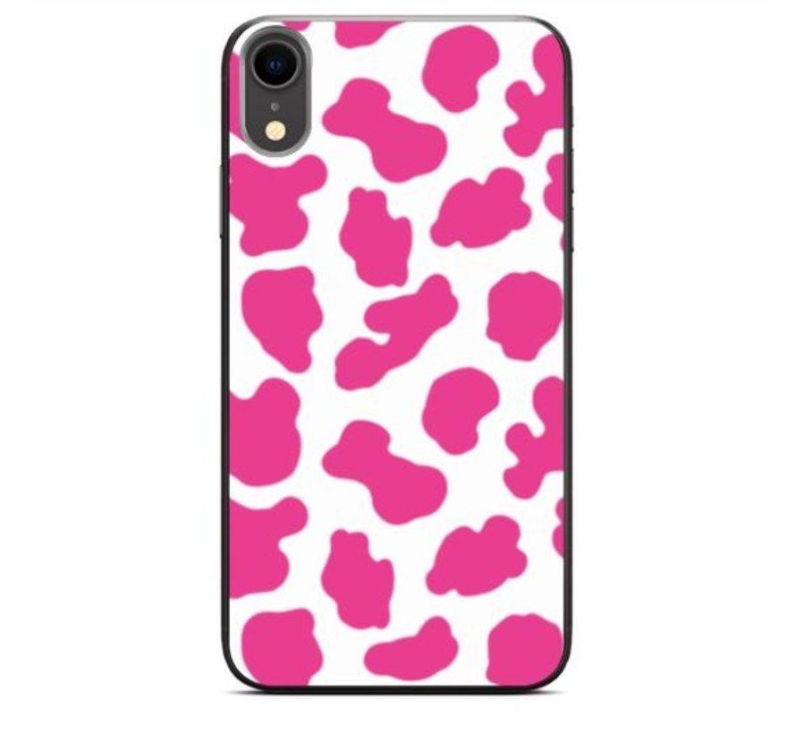 ShieldCase Holy Cow iPhone Xr hoesje (roze/wit)