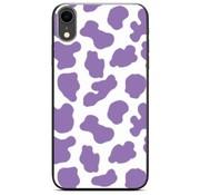 ShieldCase® Holy Cow iPhone Xr hoesje (paars/wit)