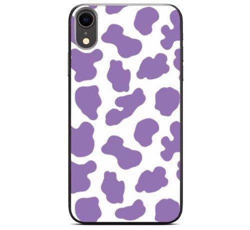 ShieldCase® ShieldCase Holy Cow iPhone Xr hoesje (paars/wit)
