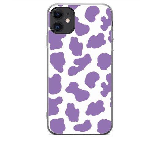 ShieldCase® ShieldCase Holy Cow iPhone 11 hoesje (paars/wit)