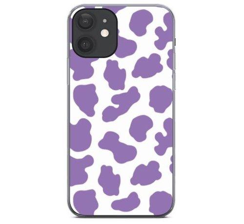 ShieldCase® ShieldCase Holy Cow iPhone 12 - 6.1 inch hoesje (paars/wit)