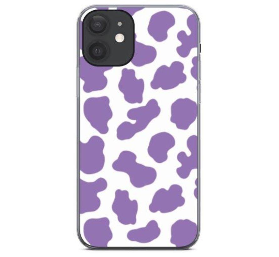 ShieldCase Holy Cow iPhone 12 - 6.1 inch hoesje (paars/wit)