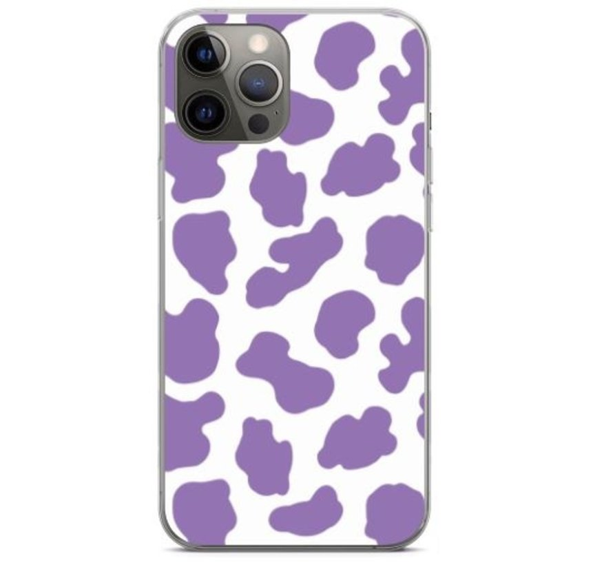 ShieldCase Holy Cow iPhone 12 Pro - 6.1 inch hoesje (paars/wit)