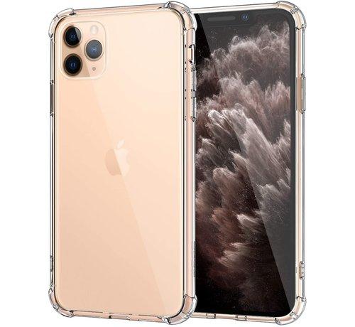 Ceezs Ceezs Apple iPhone 11 Pro hoesje shock proof transparant + glazen Screenprotector