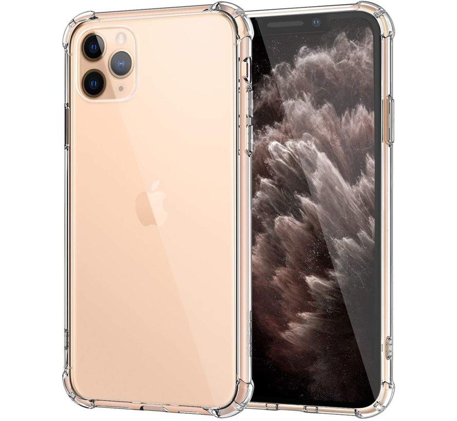 Ceezs Apple iPhone 11 Pro hoesje shock proof transparant + glazen Screenprotector