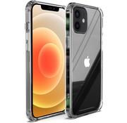 Ceezs iPhone 12 hoesje shockproof / schokbestendig transparant + Screenprotector