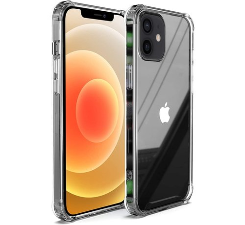 Ceezs Ceezs iPhone 12 hoesje shockproof / schokbestendig transparant + glazen Screenprotector