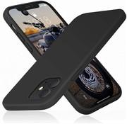 Ceezs iPhone 12 Mini hoesje siliconen / iPhone 12 Mini case silicone zwart + Screenprotector