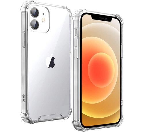 Ceezs Ceezs iPhone 12 Mini hoesje schokbestendig / shockproof TPU case transparant + glazen Screenprotector