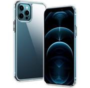 Ceezs iPhone 12 Pro Max hoesje transparant / doorzichtige backcover siliconen + Screenprotector