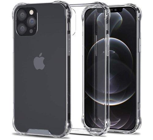 Ceezs Ceezs iPhone 12 Pro Max hoesje shockproof / schokbestendig transparant + glazen Screenprotector
