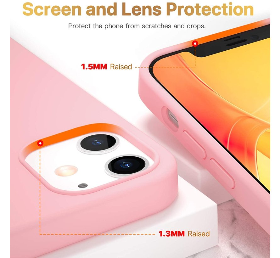 ShieldCase Silicone case iPhone 12  - 6.1 inch (roze)