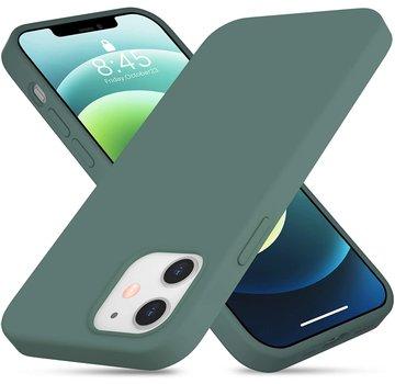 ShieldCase® Silicone case iPhone 12 - 6.1 inch (donkergroen)