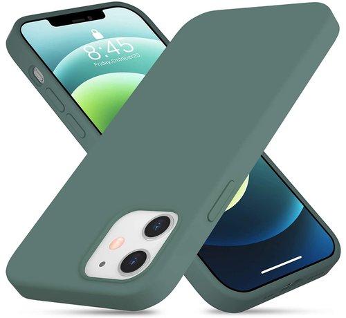 ShieldCase® ShieldCase Silicone case iPhone 12  6.1 inch (donkergroen)