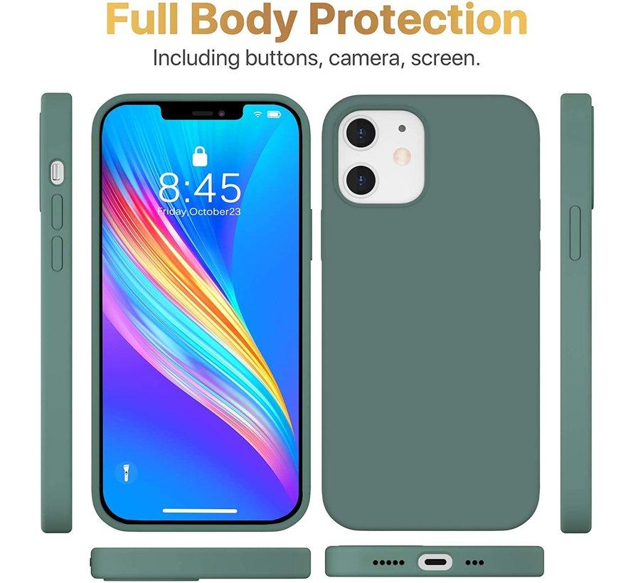 ShieldCase Silicone case iPhone 12  6.1 inch (donkergroen)