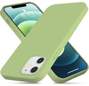 ShieldCase® Silicone case iPhone 12 - 6.1 inch (lichtgroen)