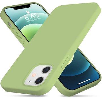 ShieldCase® Silicone case iPhone 12 - 6.1 inch (lichtgroen)