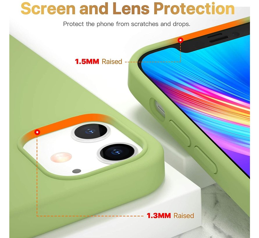 ShieldCase Silicone case iPhone 12 - 6.1 inch (lichtgroen)