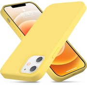 ShieldCase® Silicone case iPhone 12  - 6.1 inch (geel)
