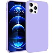 ShieldCase® Silicone case iPhone 12 Pro - 6.1 inch (lichtpaars)