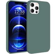 ShieldCase® Silicone case iPhone 12 Pro - 6.1 inch (donkergroen)