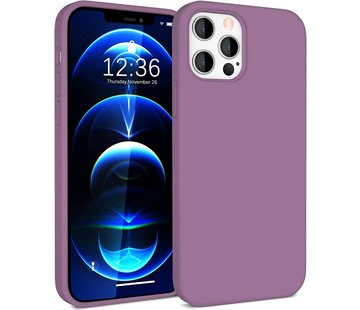 ShieldCase® Silicone case iPhone 12 Pro - 6.1 inch (donkerpaars)