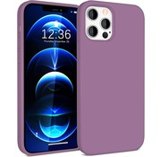 ShieldCase® Silicone case iPhone 12 Pro Max - 6.7 inch (donkerpaars)