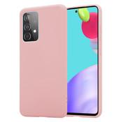 ShieldCase® Samsung Galaxy A52 siliconen hoesje (roze)