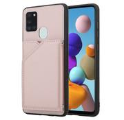 ShieldCase® Samsung Galaxy A21s wallet hoesje met bandje (roze)