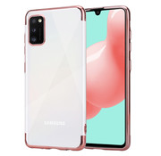 ShieldCase® Samsung Galaxy A41 Metallic bumper case (rosé goud)