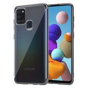 ShieldCase® Samsung Galaxy A21s Metallic bumper case (zwart)