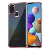ShieldCase® Samsung Galaxy A21s Metallic bumper case (rosé goud)