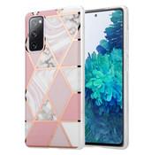 ShieldCase® Pink Pattern Samsung S20 FE hoesje (roze)