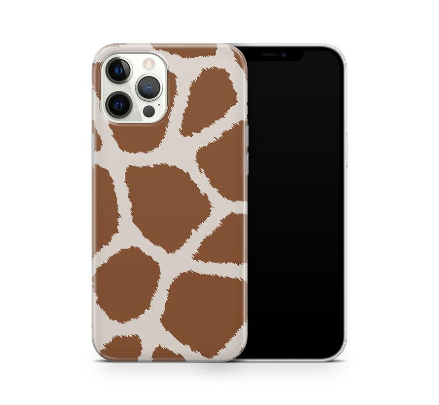ShieldCase Freaky Giraffe iPhone 12 Pro Max hoesje (bruin/wit)