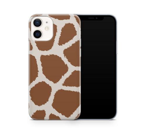 ShieldCase® ShieldCase Freaky Giraffe iPhone 12 Mini hoesje (bruin/wit)