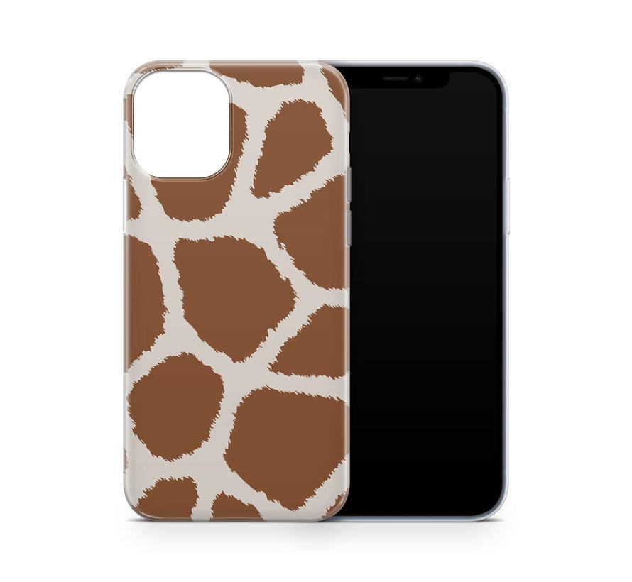 ShieldCase Freaky Giraffe iPhone 12 Mini hoesje (bruin/wit)