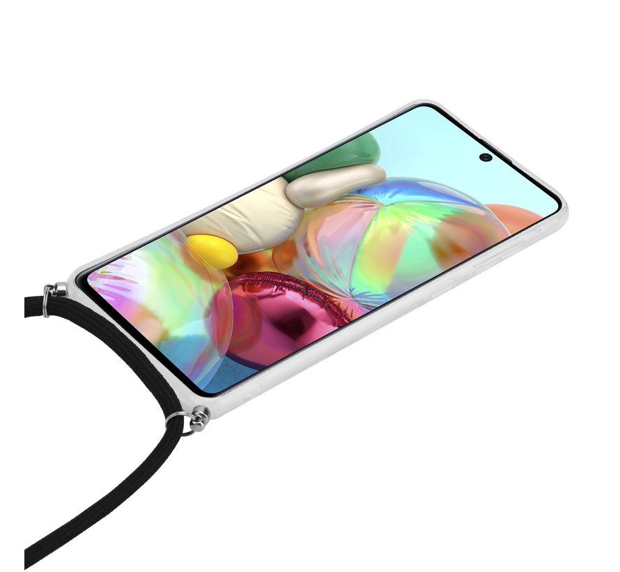 ShieldCase Black Marmble Dream Samsung A71 hoesje met koord (zwart)