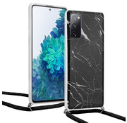 ShieldCase® Black Marmble Dream Samsung S20 FE hoesje met koord (zwart)