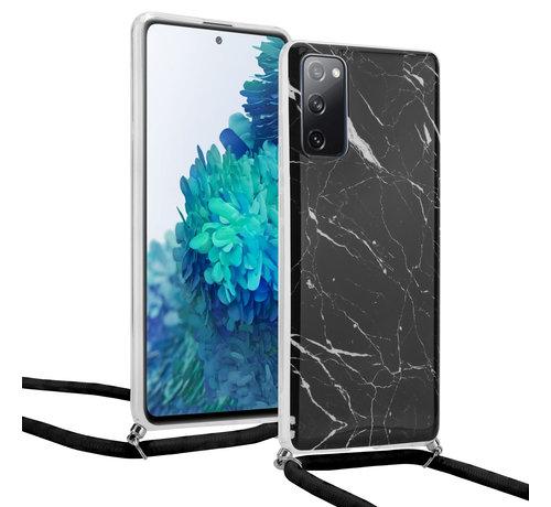 ShieldCase® ShieldCase Black Marmble Dream Samsung S20 FE hoesje met koord (zwart)