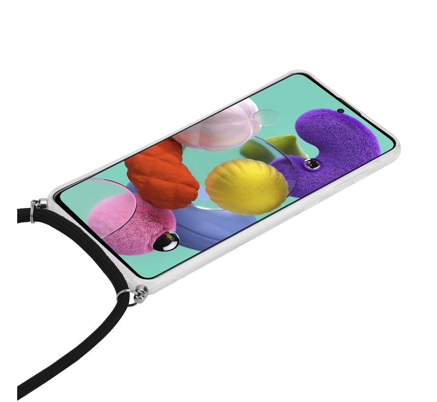ShieldCase Black Marble Dream Samsung A51 hoesje met koord (zwart)