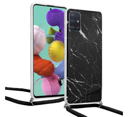 ShieldCase® ShieldCase Black Marmble Dream Samsung A51 hoesje met koord (zwart)