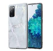 ShieldCase® Metallic White Marmble Samsung S20 FE hoesje (wit)
