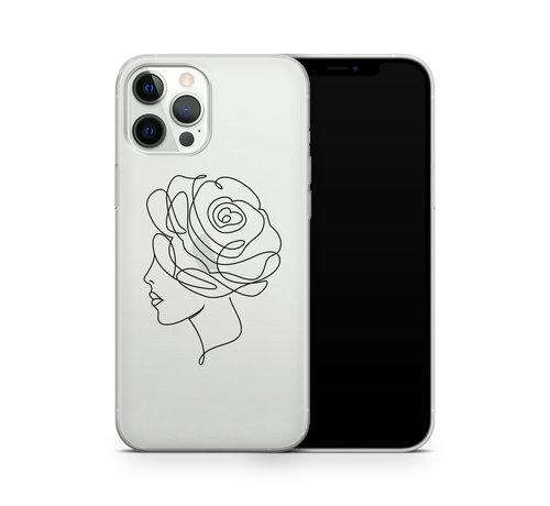 ShieldCase® ShieldCase Flower Face iPhone 12 Pro hoesje (transparant)